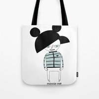 minnie Tote Bags featuring MINNIE ME by Manola  Argento