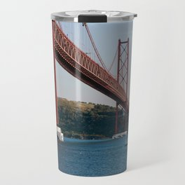 Lisbon Bridge 25 abril Travel Mug