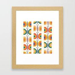 Retro Butterflies Framed Art Print