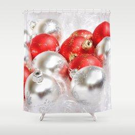 Holiday Christmas Decoration Christmas Lights Terr Shower Curtain