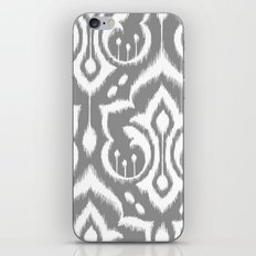 Ikat Damask Gray iPhone & iPod Skin