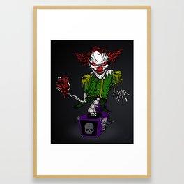 Evil Jack 'n' the Box Framed Art Print