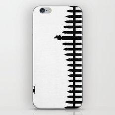 Bird on a fence iPhone & iPod Skin