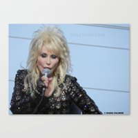 dolly parton Canvas Prints featuring Dolly Parton Homecoming Parade 2012 by Diana Falheim