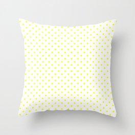 Dots (Yellow/White) Throw Pillow