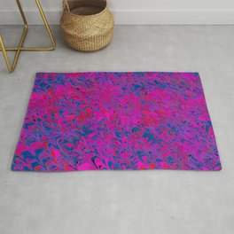 violet and blue trenches Rug