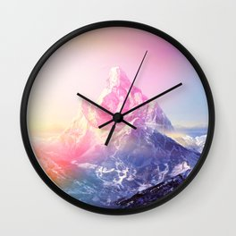 Mountain Colored Wall Clock