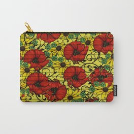 Poppy forget me not Carry-All Pouch