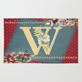 Country Charm Monogramed W Rug