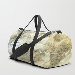 White Marble in Earth Tones Duffle Bag