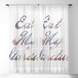 Eat Stardust Sheer Curtain