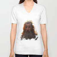 gandalf V-neck T-shirts featuring Gandalf by Ryky