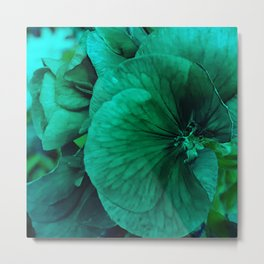 green flower stylization Metal Print