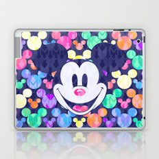 Mickey Mouse Head on Arrows Laptop & iPad Skin