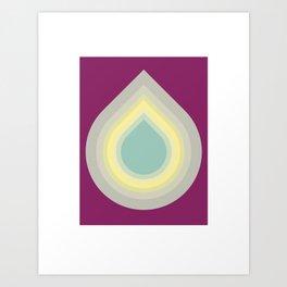 001 - Blue drop Art Print