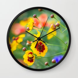 Where the wildflowers bloom Wall Clock