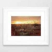 casablanca Framed Art Prints featuring Casablanca by GF Fine Art Photography