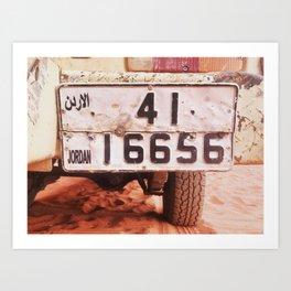 Desert bound Art Print
