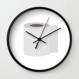 Roll of toilet paper Wall Clock