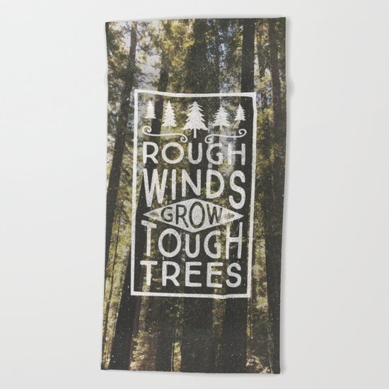 TOUGH TREES Beach Towel