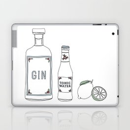 Gin tonic and lime illustration Laptop & iPad Skin