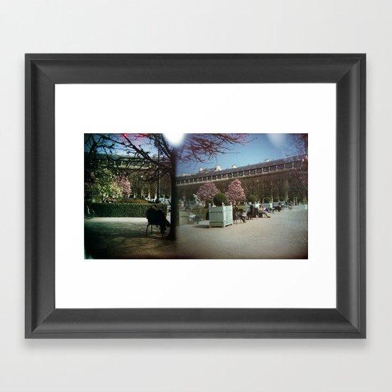 Jardin du Palais Royal, Paris Framed Art Print