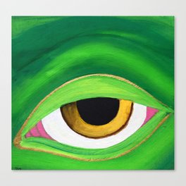 Shades of a friendly frog Canvas Print