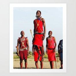 Warrior Dance in Nairobi, Kenya Art Print