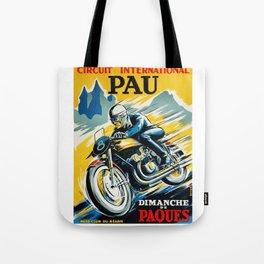 Grand Prix de Pau, Race poster, vintage motorcycle poster, retro poster, Tote Bag