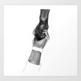 Holding hope Art Print