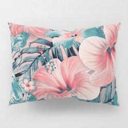 Vintage Jade Coral Aloha Pillow Sham