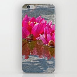 Pink Water Lillies iPhone Skin