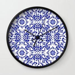 Blue petals Wall Clock