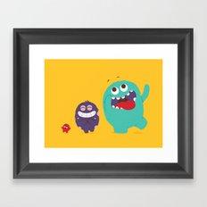 All kinds of excited Framed Art Print