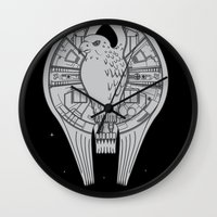 millenium falcon Wall Clocks featuring The REAL Millenium Falcon by Scott Neilson