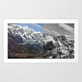 MOUNT EVEREST 003 Art Print