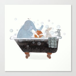 little bath time Canvas Print