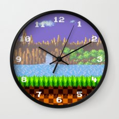 Green Hill Wall Clock