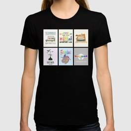 Designers United - All Six Designs T-shirt