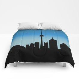 Toronto Skyline - Night Comforters