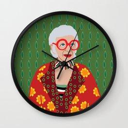 Iris Apfel Wall Clock