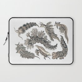 Ernst Haeckel Nudibranch Sea Slugs Monochrome Silver Laptop Sleeve