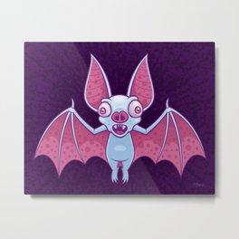 Albino Vampire Bat Metal Print