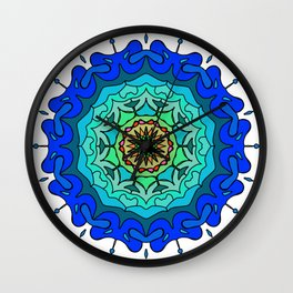 Ethnic Mandala ornament Wall Clock