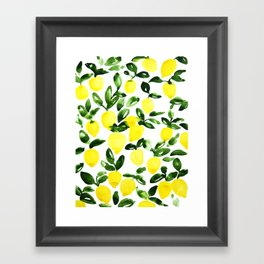 Summer Lemons Framed Art Print