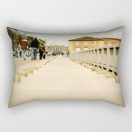 Walking down the Embarcadero in San Francisco Rectangular Pillow