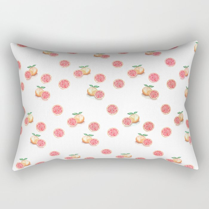 Grapefruit Pattern Rectangular Pillow