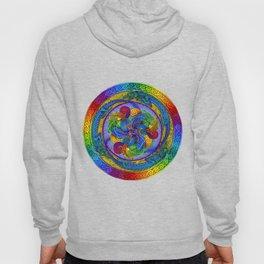 Psychedelic Dragons Rainbow Spirals Mandala Hoody