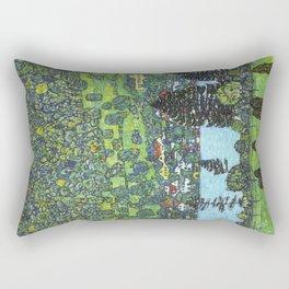 Gustav Klimt - Slope at Unterach Rectangular Pillow