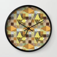 quilt Wall Clocks featuring quilt by notbook